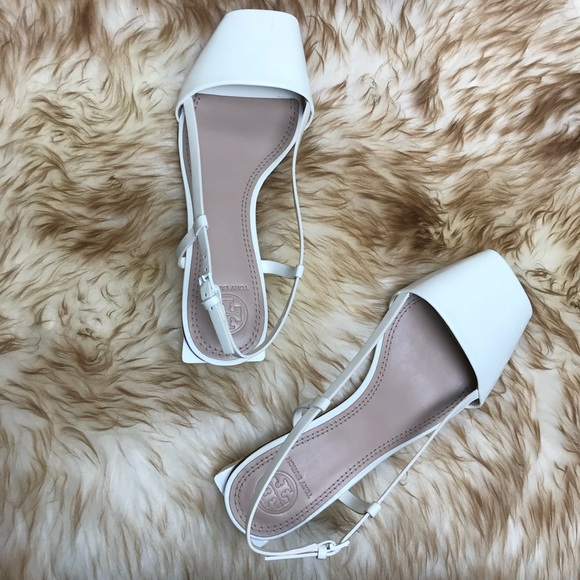 9ee88b4b9cce Tory Burch Pietra Porcelain White Sandal Flat 7